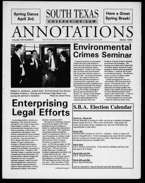 South Texas College of Law Annotations (Houston, Tex.), Vol. 21, No. 5, Ed. 1, March, 1993