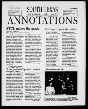 Primary view of object titled 'South Texas College of Law Annotations (Houston, Tex.), Vol. 22, No. 2, Ed. 1, October, 1993'.