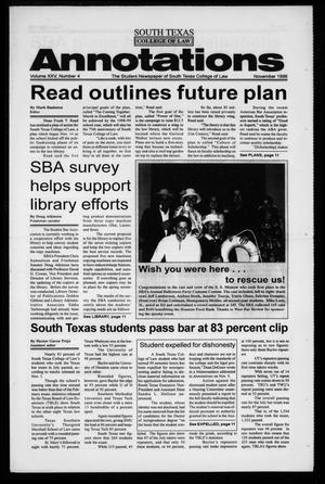 Primary view of object titled 'South Texas College of Law Annotations (Houston, Tex.), Vol. 25, No. 4, Ed. 1, November, 1996'.