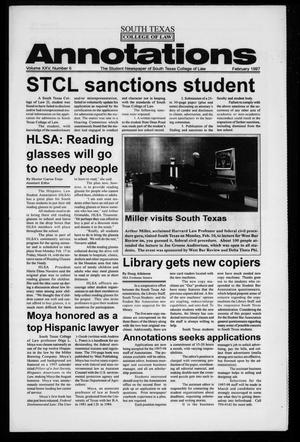 Primary view of object titled 'South Texas College of Law Annotations (Houston, Tex.), Vol. 25, No. 6, Ed. 1, February, 1997'.