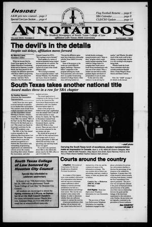 South Texas College of Law Annotations (Houston, Tex.), Vol. 28, No. 2, Ed. 1, September, 1998