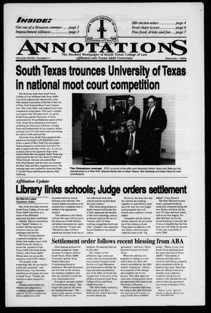 Primary view of object titled 'South Texas College of Law Annotations (Houston, Tex.), Vol. 28, No. 5, Ed. 1, February, 1999'.