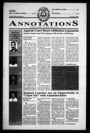 Primary view of object titled 'South Texas College of Law Annotations (Houston, Tex.), Vol. 29, No. 4, Ed. 1, November, 1999'.