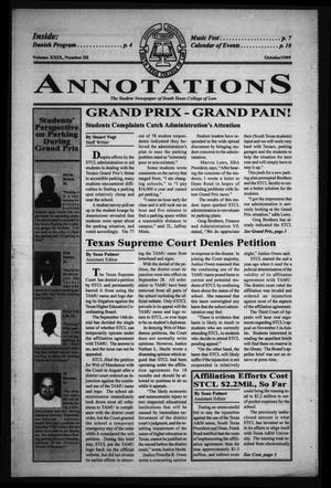 Primary view of object titled 'South Texas College of Law Annotations (Houston, Tex.), Vol. 29, No. 3, Ed. 1, October, 1999'.