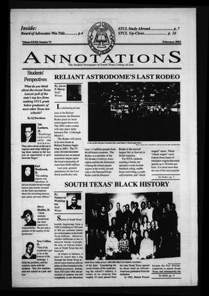 Primary view of object titled 'South Texas College of Law Annotations (Houston, Tex.), Vol. 32, No. 6, Ed. 1, February, 2002'.