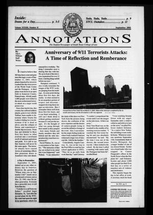 Primary view of object titled 'South Texas College of Law Annotations (Houston, Tex.), Vol. 33, No. 2, Ed. 1, September, 2002'.