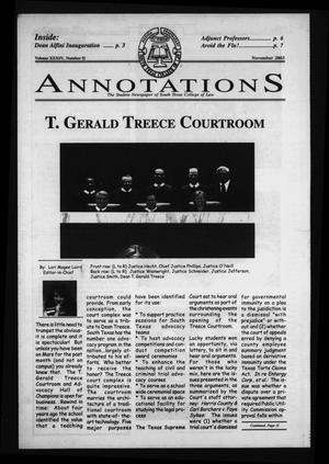 Primary view of object titled 'South Texas College of Law Annotations (Houston, Tex.), Vol. 34, No. 3, Ed. 1, November, 2003'.