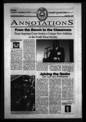 Primary view of object titled 'South Texas College of Law Annotations (Houston, Tex.), Vol. 37, No. 1, Ed. 1, September, 2004'.