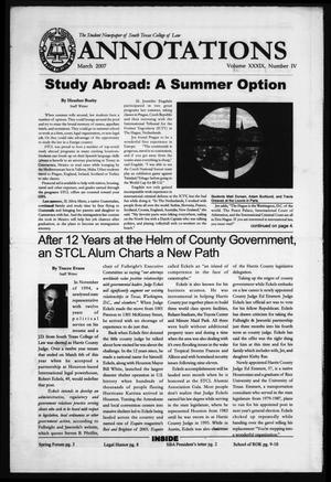 Primary view of object titled 'South Texas College of Law Annotations (Houston, Tex.), Vol. 39, No. 5, Ed. 1, March, 2007'.