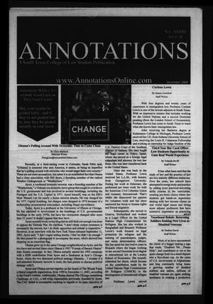 Primary view of object titled 'South Texas College of Law Annotations (Houston, Tex.), Vol. 41, No. 2, Ed. 1, December, 2008'.