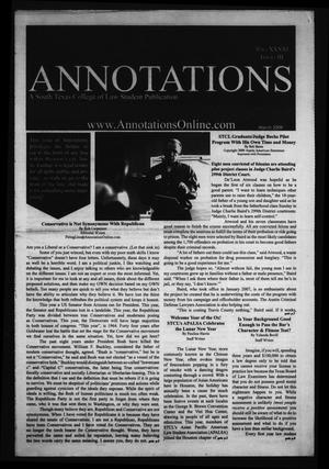 Primary view of object titled 'South Texas College of Law Annotations (Houston, Tex.), Vol. 41, No. 3, Ed. 1, March, 2009'.