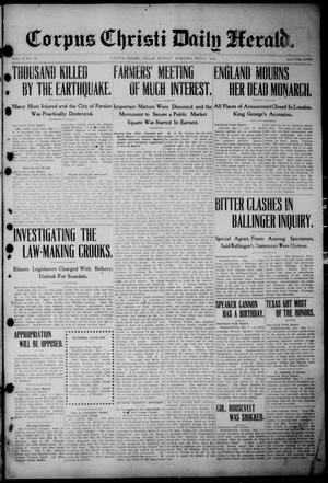 The Corpus Christi Daily Herald (Corpus Christi, Tex.), Vol. 3, No. 52, Ed. 1, Sunday, May 8, 1910