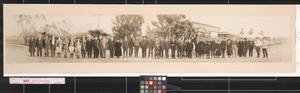 Primary view of object titled 'Excursion party of the Southwestern Land Co. at Sharyland'.