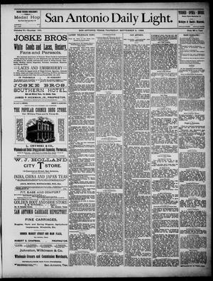 San Antonio Daily Light (San Antonio, Tex.), Vol. 6, No. 195, Ed. 1, Thursday, September 2, 1886