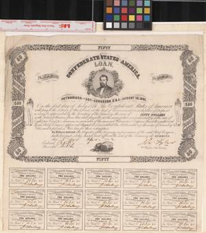 Primary view of object titled '[Confederate States Loan]'.