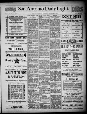 San Antonio Daily Light (San Antonio, Tex.), Vol. 6, No. 354, Ed. 1, Saturday, December 4, 1886