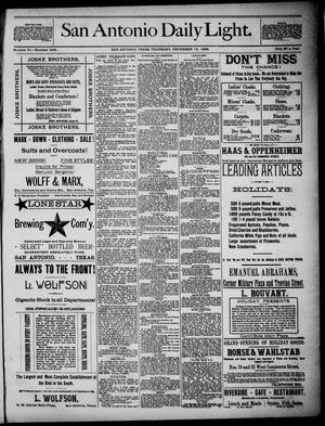 San Antonio Daily Light (San Antonio, Tex.), Vol. 6, No. 343, Ed. 1, Thursday, December 16, 1886