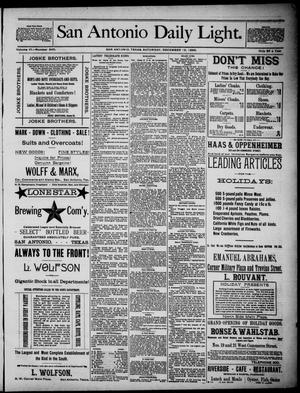 San Antonio Daily Light (San Antonio, Tex.), Vol. 6, No. 345, Ed. 1, Saturday, December 18, 1886