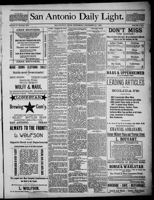 San Antonio Daily Light (San Antonio, Tex.), Vol. 6, No. 348, Ed. 1, Wednesday, December 22, 1886