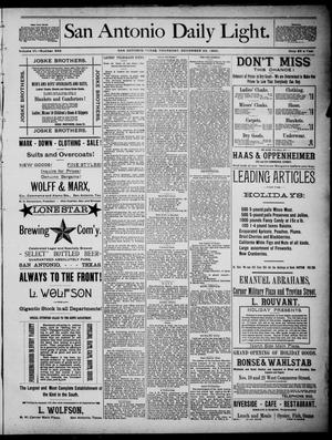 San Antonio Daily Light (San Antonio, Tex.), Vol. 6, No. 349, Ed. 1, Thursday, December 23, 1886