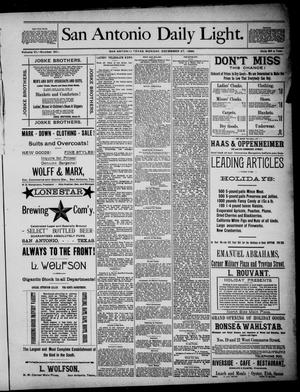 San Antonio Daily Light (San Antonio, Tex.), Vol. 6, No. 351, Ed. 1, Monday, December 27, 1886