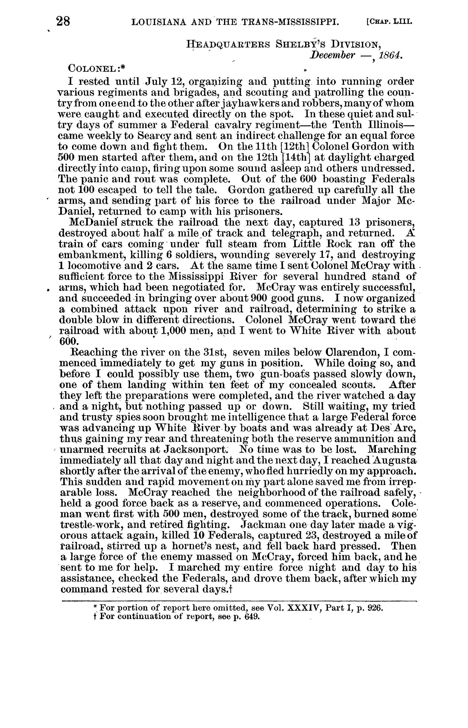 The War of the Rebellion: A Compilation of the Official Records of the Union And Confederate Armies. Series 1, Volume 41, In Four Parts. Part 1, Reports.                                                                                                      28