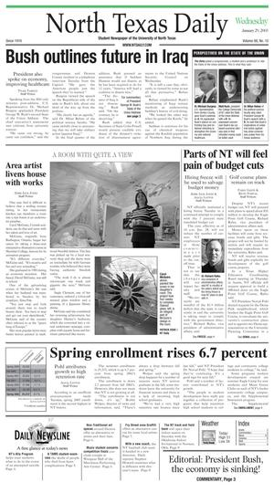 North Texas Daily (Denton, Tex.), Vol. 88, No. 10, Ed. 1 Wednesday, January 29, 2003