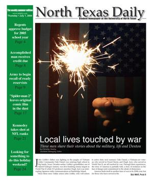 Primary view of object titled 'North Texas Daily (Denton, Tex.), Ed. 1 Thursday, July 1, 2004'.