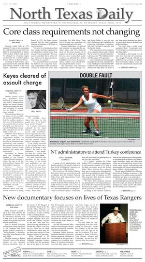 Primary view of object titled 'North Texas Daily (Denton, Tex.), Vol. 89, No. 103, Ed. 1 Tuesday, April 19, 2005'.