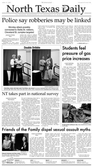 North Texas Daily (Denton, Tex.), Vol. 89, No. 108, Ed. 1 Wednesday, April 27, 2005
