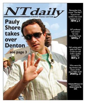 Primary view of object titled 'NT daily (Denton, Tex.), Ed. 1 Thursday, June 30, 2005'.