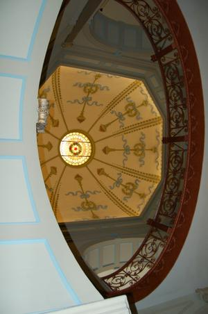 Primary view of object titled '[Looking Up at Rotunda]'.
