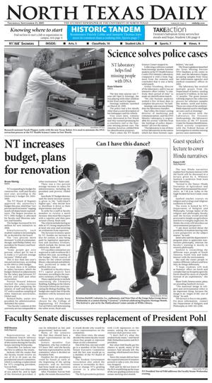 North Texas Daily (Denton, Tex.), Vol. 90, No. 11, Ed. 1 Thursday, September 15, 2005