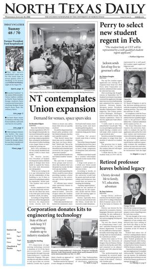 North Texas Daily (Denton, Tex.), Vol. 90, No. 56, Ed. 1 Wednesday, January 18, 2006