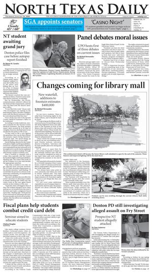 Primary view of object titled 'North Texas Daily (Denton, Tex.), Vol. 90, No. 61, Ed. 1 Thursday, January 26, 2006'.