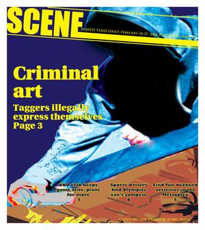 Primary view of object titled 'Scene: North Texas Daily (Denton, Tex.), Vol. 90, No. 78, Ed. 1 Friday, February 24, 2006'.