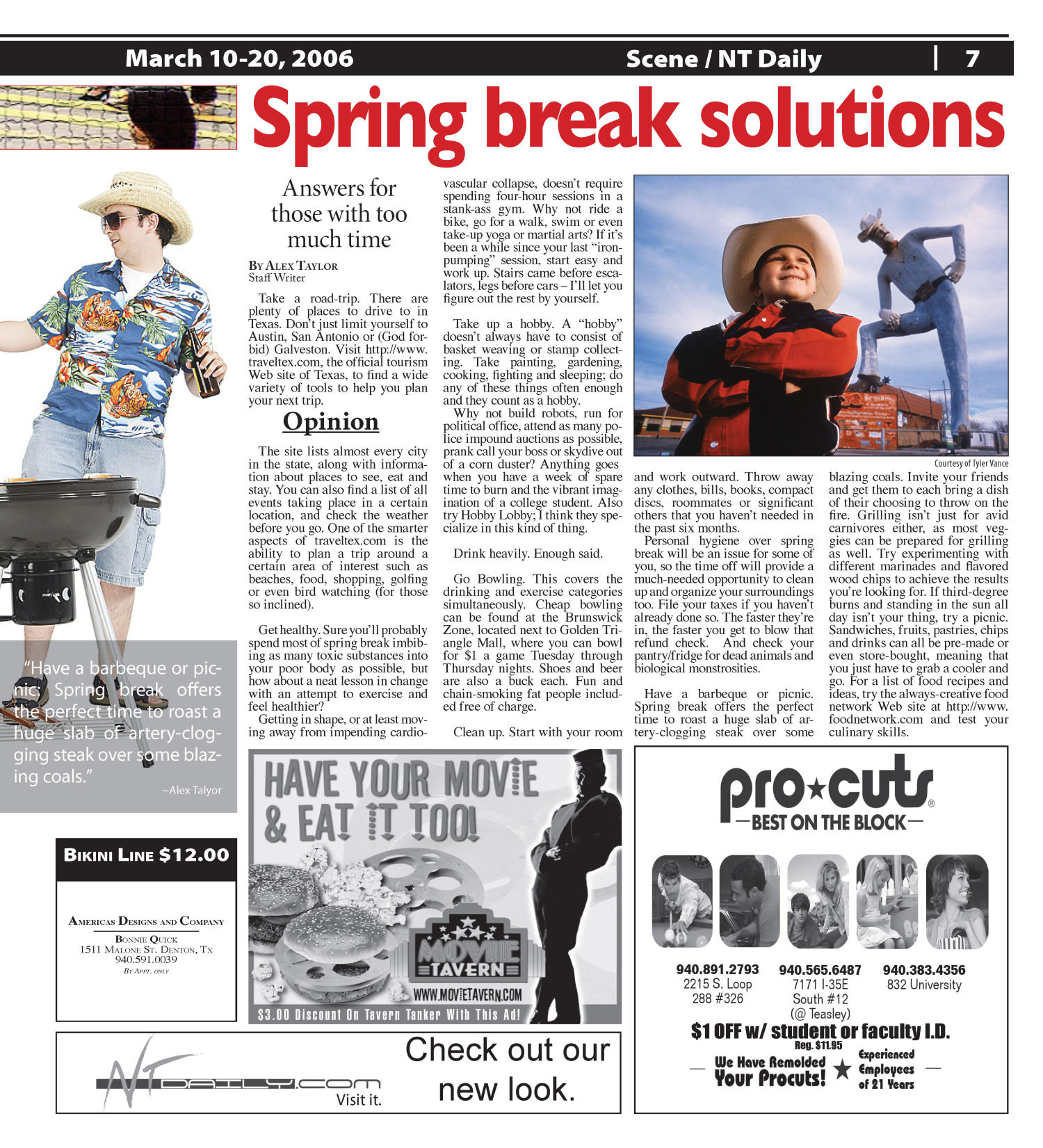 Scene: North Texas Daily (Denton, Tex.), Vol. 90, No. 86, Ed. 1 Friday, March 10, 2006                                                                                                      [Sequence #]: 7 of 12