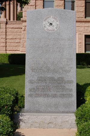 Primary view of object titled '[Monument to Firefighters]'.