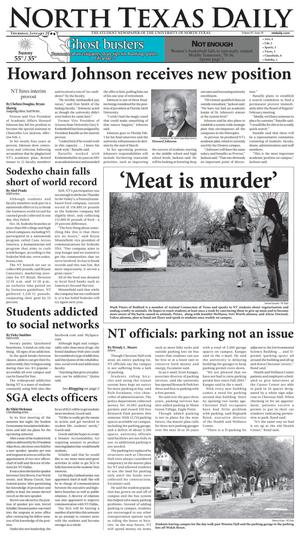 Primary view of object titled 'North Texas Daily (Denton, Tex.), Vol. 91, No. 59, Ed. 1 Thursday, January 25, 2007'.