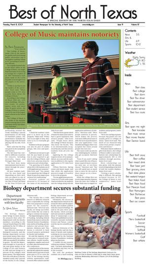 North Texas Daily (Denton, Tex.), Vol. 91, No. 87, Ed. 1 Thursday, March 15, 2007