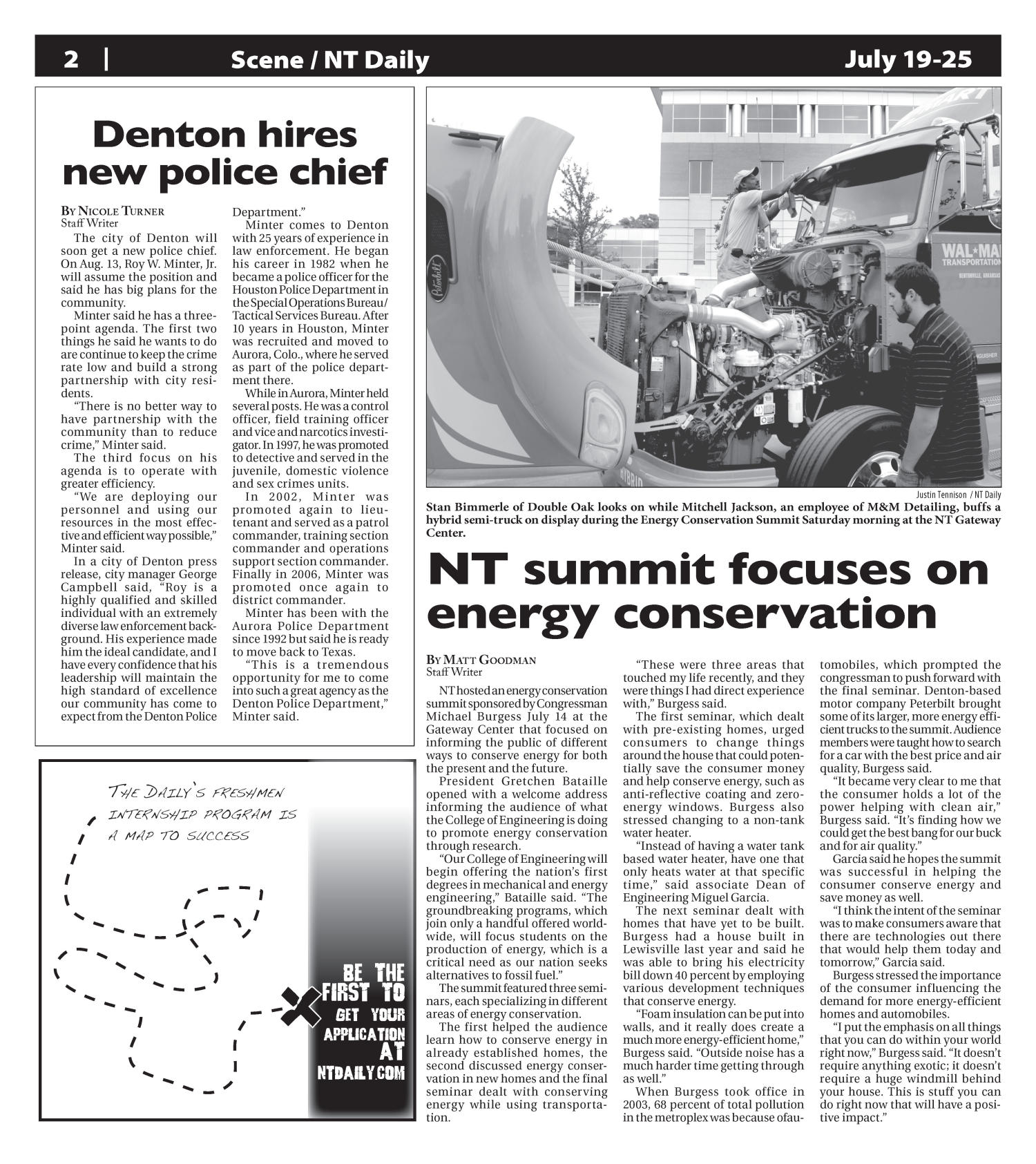 Scene: North Texas Daily (Denton, Tex.), Vol. 91, No. 112, Ed. 1 Thursday, July 19, 2007                                                                                                      [Sequence #]: 2 of 7
