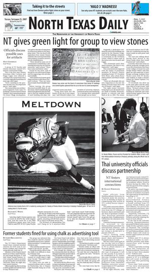 North Texas Daily (Denton, Tex.), Vol. 91, No. 15, Ed. 1 Tuesday, September 25, 2007