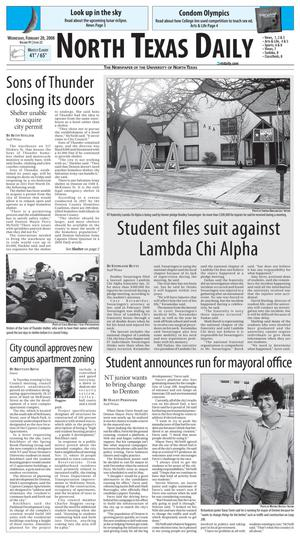 North Texas Daily (Denton, Tex.), Vol. 91, No. 22, Ed. 1 Wednesday, February 20, 2008