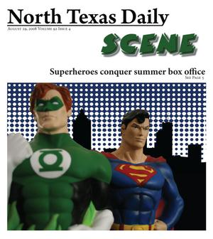 Primary view of object titled 'North Texas Daily: Scene (Denton, Tex.), Vol. 92, No. 4, Ed. 1 Friday, August 29, 2008'.