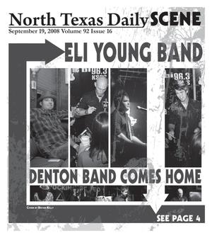 Primary view of object titled 'North Texas Daily: Scene (Denton, Tex.), Vol. 92, No. 16, Ed. 1 Friday, September 19, 2008'.