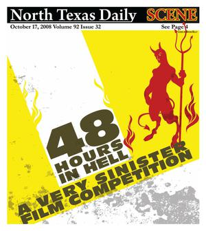 Primary view of object titled 'North Texas Daily: Scene (Denton, Tex.), Vol. 92, No. 32, Ed. 1 Friday, October 17, 2008'.