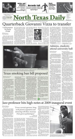 Primary view of object titled 'North Texas Daily (Denton, Tex.), Vol. 93, No. 5, Ed. 1 Tuesday, January 27, 2009'.