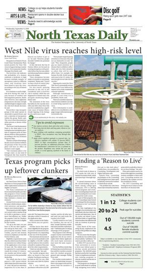 North Texas Daily (Denton, Tex.), Vol. 92, No. 8, Ed. 1 Wednesday, September 9, 2009