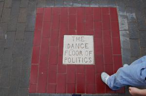 Primary view of object titled 'The Dance Floor of Politics, public artwork'.