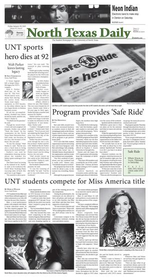 North Texas Daily (Denton, Tex.), Vol. 95, No. 8, Ed. 1 Friday, January 29, 2010